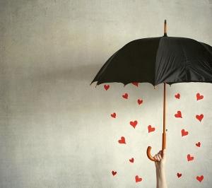 chuva de coraçoes